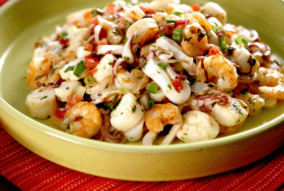 ensaladas de mariscos